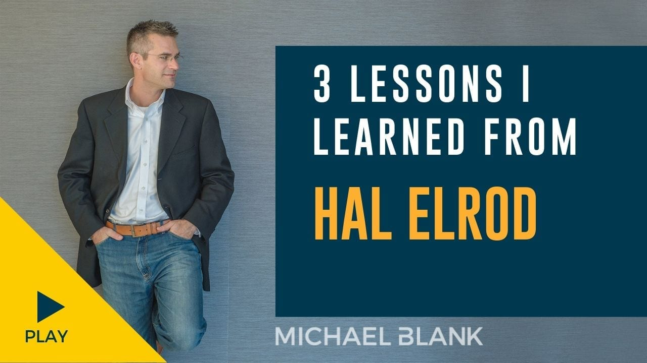 3 Lessons I learned from Hal Elrod