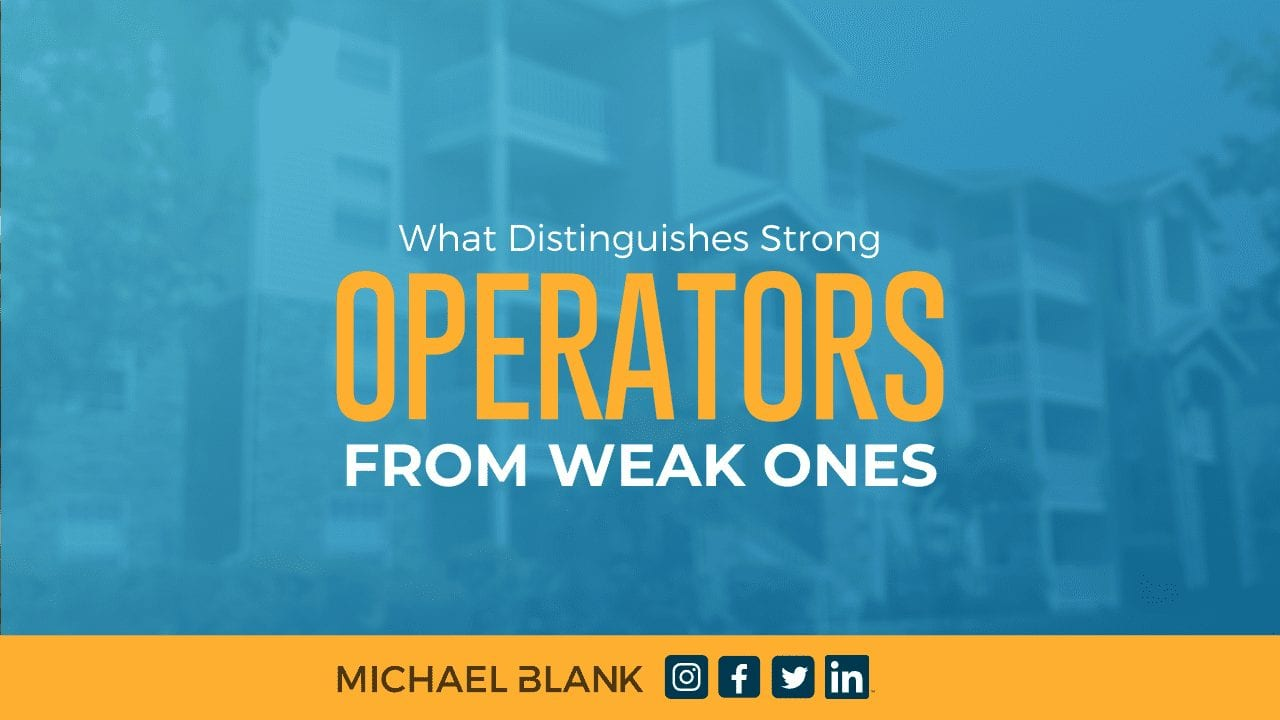 What Distinguishes Strong Operators From Weak Ones